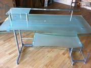 Tempered Frosted Glass Desk for Sale